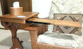 couch arm coffee table sofa side table slide under couch side table unique sofa side table