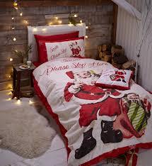 catherine lansfield retro santa bedding range single double or