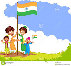 Flag Of Inida Indian With Flag