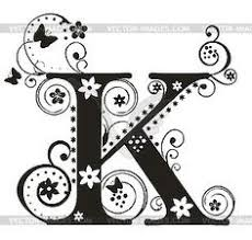 fancy letter k designs letters