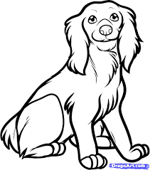 zentangle stylized cartoon cocker spaniel dog isolated on white
