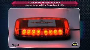 is led light safe wolo sure safe mini led lightbar amber 24 leds 10 1 2in l model