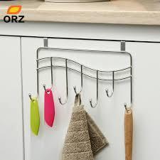 kitchen cabinet towel rack orz 7 hooks kitchen cabinet door hook hanger rack bathroom storage