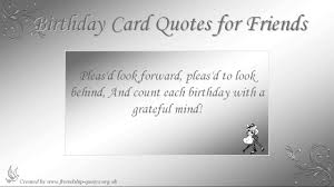 birthday card quotes for friends youtube