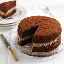 chocolate and hazelnut victoria sandwich woman and home