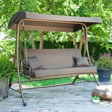 Modern Patio Swing Patio Swings With Canopy Menards Home Outdoor Decoration