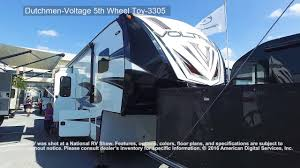 dutchmen voltage 5th wheel toy 3305 youtube