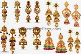 gold ear rings images gold earrings collection by orra jewellery designs