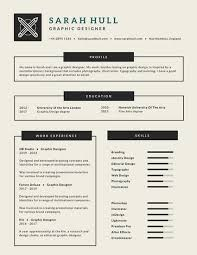 resume for a bartender greyscale infographic corporate resume templates by canva