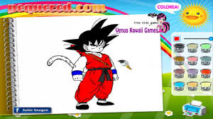 goku dragon ball z coloring game for childrens youtube
