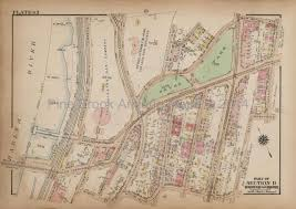 Harlem Map New York by Lorillard Harlem River Bronx Antique Map New York City Bromley