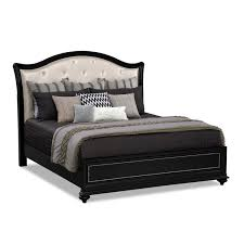 marilyn 6 piece king bedroom set ebony value city furniture