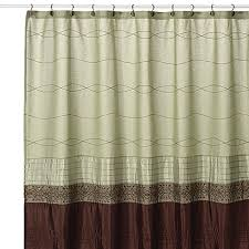 Green And Brown Shower Curtains Kas Romana Green Fabric Shower Curtain Bed Bath Beyond