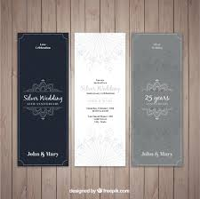 silver wedding invitations silver wedding invitations vector free