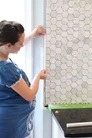 How To Tile A Kitchen Backsplash Feeling Edgey Bower Power