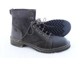 waterproof italian leather ankle boots for men brown footwear