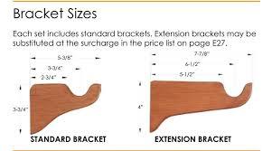 Curtain Rod Extension Brackets Alassie Custom 1 3 8 Wood Curtain Rod In Oak Available