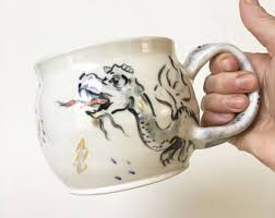 Dragon Coffee Cup Dragon Pottery Etsy