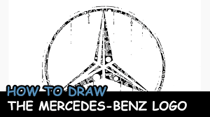 logo mercedes how to draw the mercedes benz logo youtube
