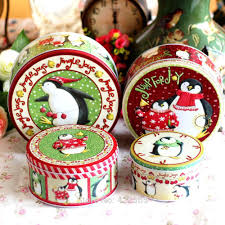 new 4pcs lot zakka metal storage box christmas tin box holiday