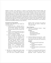 career objective statement sample resume objectives for