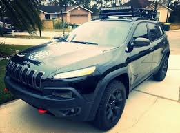 2015 jeep cherokee light bar installed roof rack led bar s and accessories 2014 jeep