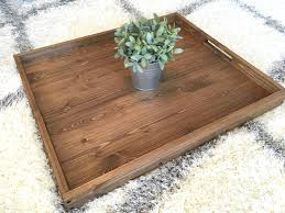Rustic Wood Home Decor Rustic Wooden Ottoman Tray Ottoman Tray Wooden Tray Rustic