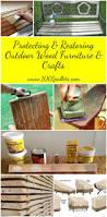 protecting u0026 restoring outdoor wood furniture u0026 crafts u2022 1001 pallets