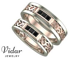 princess cut black engagement rings princess cut black unique matching wedding bands vidar