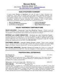Managers Resume Sample director of operations resume samples