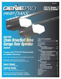 Overhead Garage Door Opener Manual by Genie Garage Door Opener On Genie Garage Door Opener