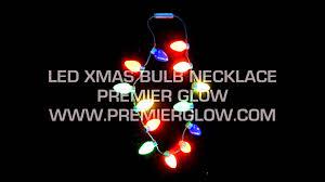 flashing christmas light necklace flashing christmas bulb necklace youtube