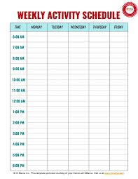 Study Schedule Template Excel Sle Weekly Agenda Free Weekly Planner Templates Great Ideas