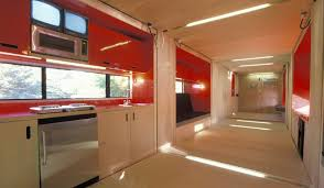 shipping container home interiors interior of shipping container home that slides out built by lot