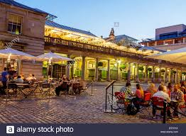 covent garden family restaurants covent garden night london uk stock photo royalty free image
