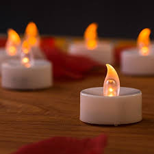 24 mars battery operated led tea light candles 1 year