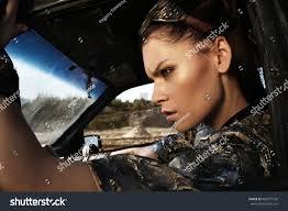 futuristic style young woman warrior brutal futuristic style stock photo 402877750