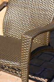 Wicker Rocking Chairs For Porch The Portside Plantation All Weather Wicker Rocking Chair Set
