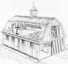 Two Story Barn Plans Gambrel Roof Barn Plans U2013 Barn Plans Vip