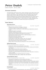 Bar Resume Examples by Bartender Server Resume Samples Visualcv Resume Samples Database