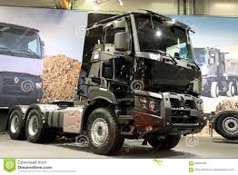 renault trucks black renault trucks c for construction editorial image image