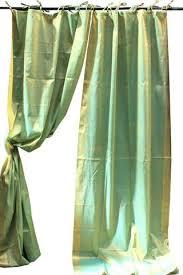 Sari Fabric Curtains Indian Sari Aqua Green Paisley Decorative Drapes Window
