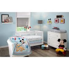 Mickey Mouse Crib Bedding Set Walmart Disney Let S Go Mickey Mouse 3 Crib Bedding Set Walmart