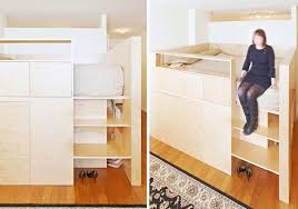 clever room divider by jordan parnass triples as queen sized bed