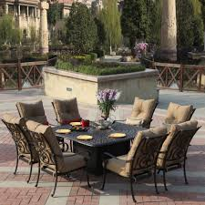 Umbrellas For Patio Tables by Oakland Living Rochester 9 Piece Patio Dining Set With 2 Swivel In
