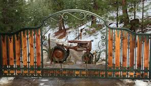 ornamental gate fence powder coated steel wrought iron entrance gates