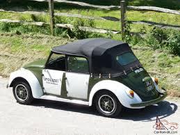 green volkswagen beetle convertible 1972 classic vw 4 door beetle cabriolet polizei