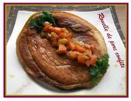 cuisiner une rouelle de porc recette rouelle de porc confite 750g