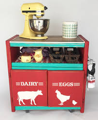 Create A Cart Kitchen Island Diy Farmhouse Kitchen Island From An Old Tv Cart Cathie Filian