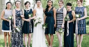 navy bridesmaid dresses beautiful in blue navy bridesmaids dresses onefabday